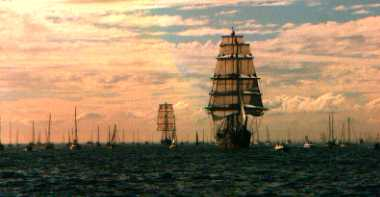 Tall ships at Portsmouth 2002